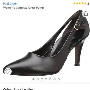 🆕 Paul Green Contessa Black Leather Pumps. 10.